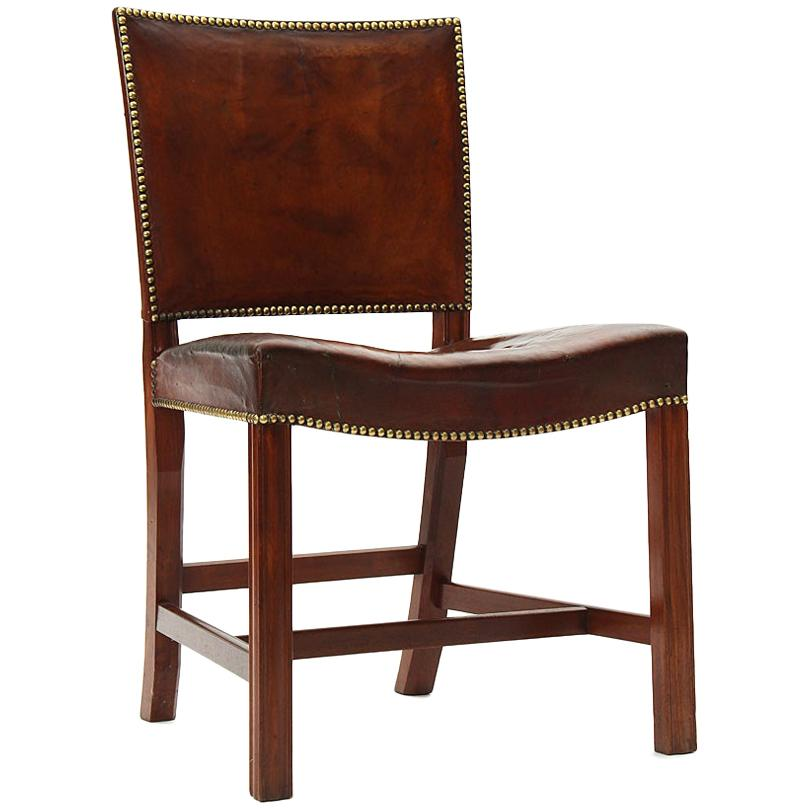 Mahogany and Leather Barcelona Chair by Kaare Klint for Rud Rasmussen