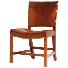 Mahogany & Leather 'Barcelona' Chair by Kaare Klint for Rud Rasmussen