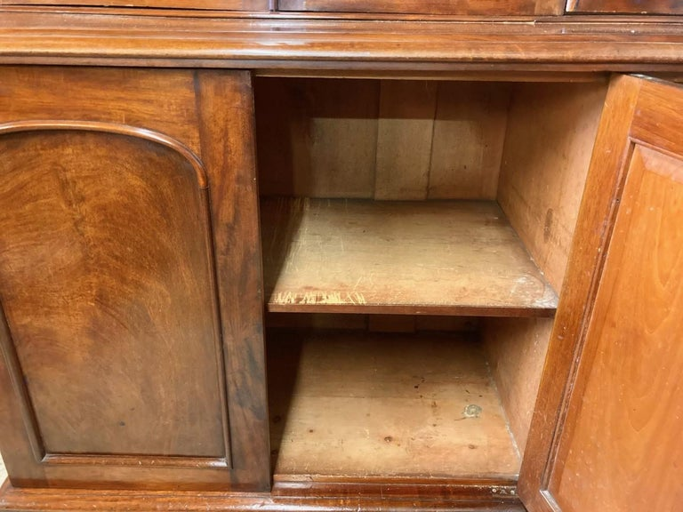 Mahogany Library Bookcase, Original  Bookcase, English, circa 1860 In Good Condition In Honiton, Devon