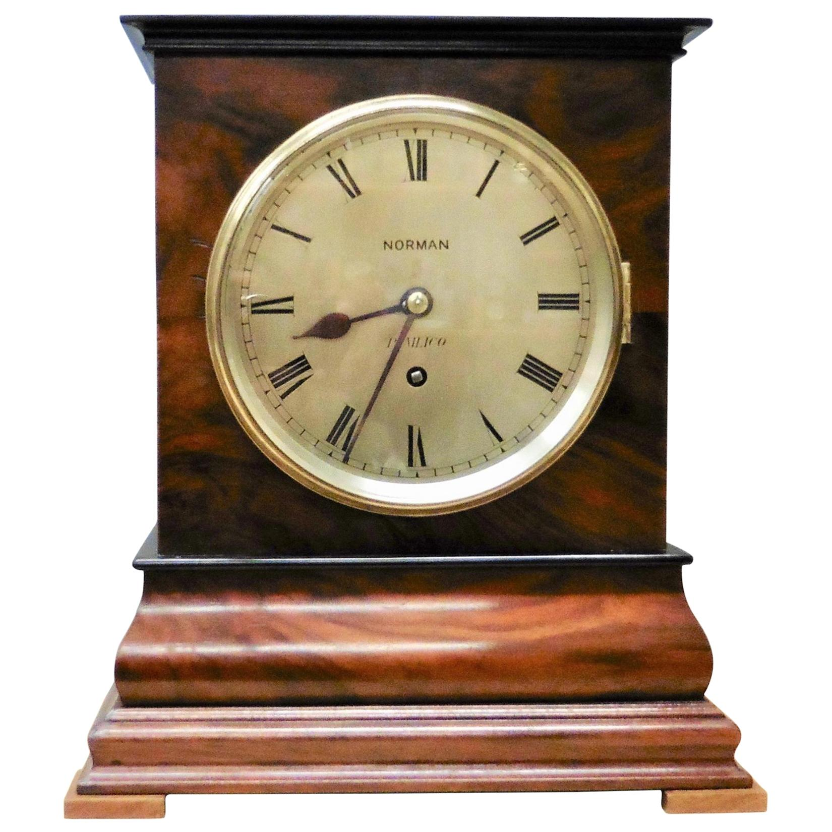 Mahogany Library Fusee Bracket Clock by Norman, Pimlico