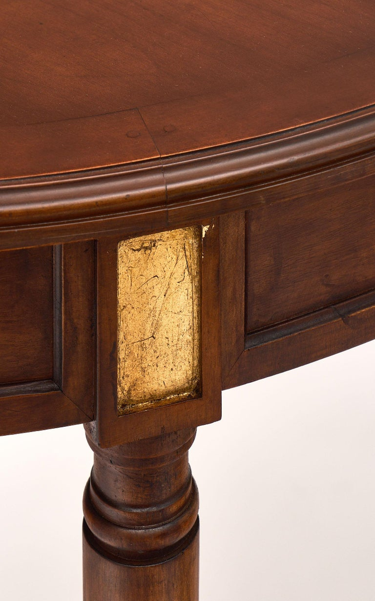 Bronze Mahogany Louis XVI Style Antique Dining Table For Sale