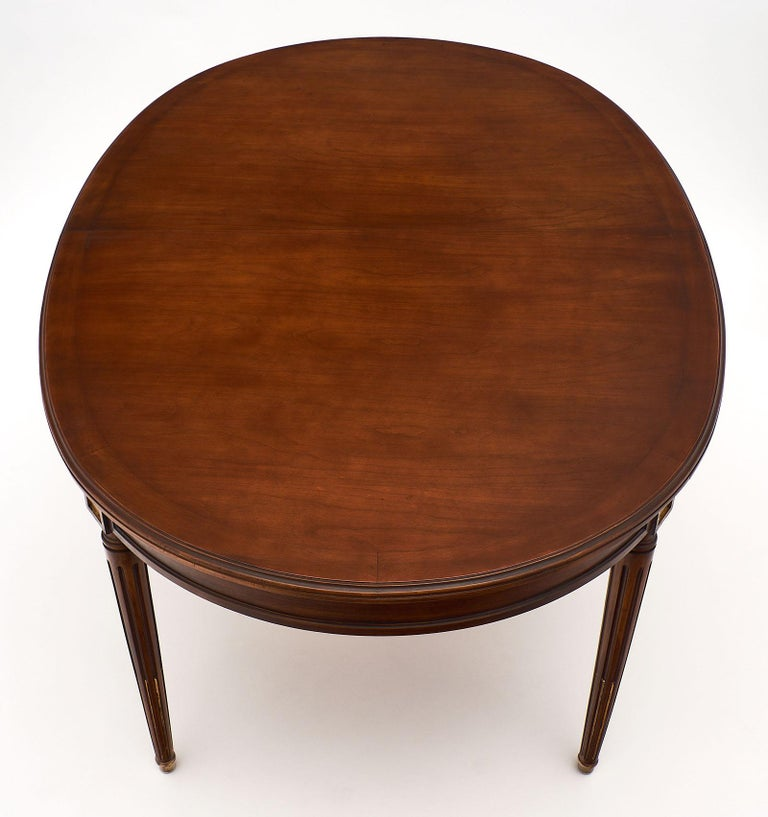 Mahogany Louis XVI Style Antique Dining Table For Sale 2