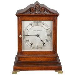Mahogany Mantel Clock by Hampton & Sons, Pall Mall