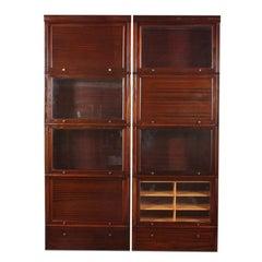 Mahogany Modular Bookcase
