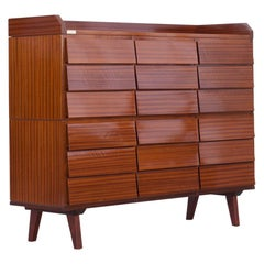 """Mahogany Office Chest of Drawers, Manufactured by """"Schirolli Manova"""", Italy 1950"""