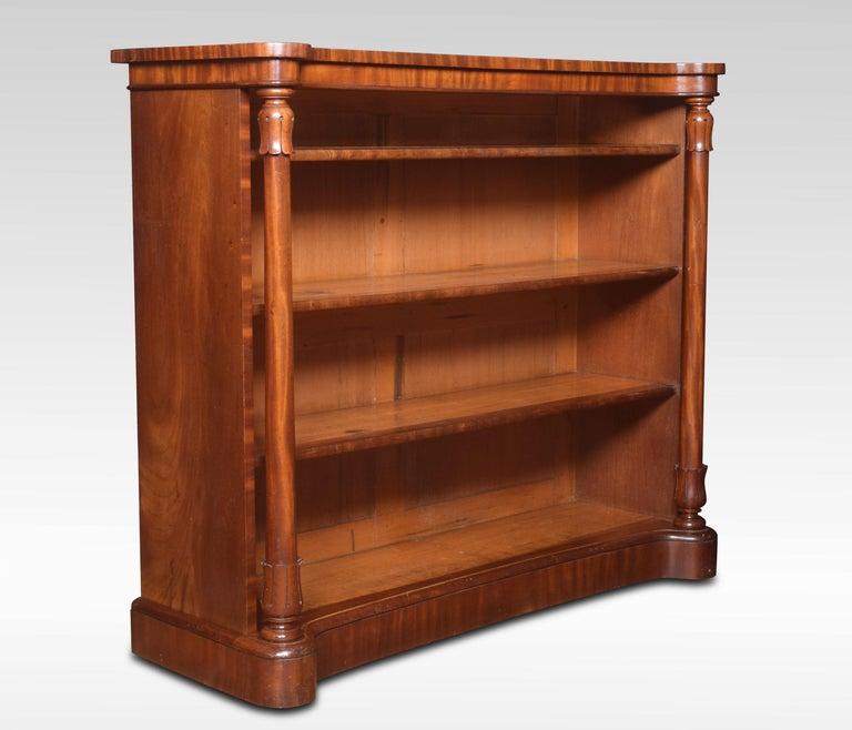 19th Century Mahogany Open Bookcase For Sale