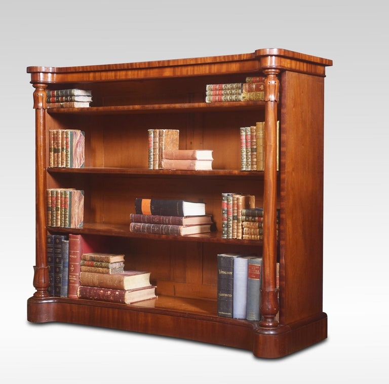 Mahogany Open Bookcase For Sale 3