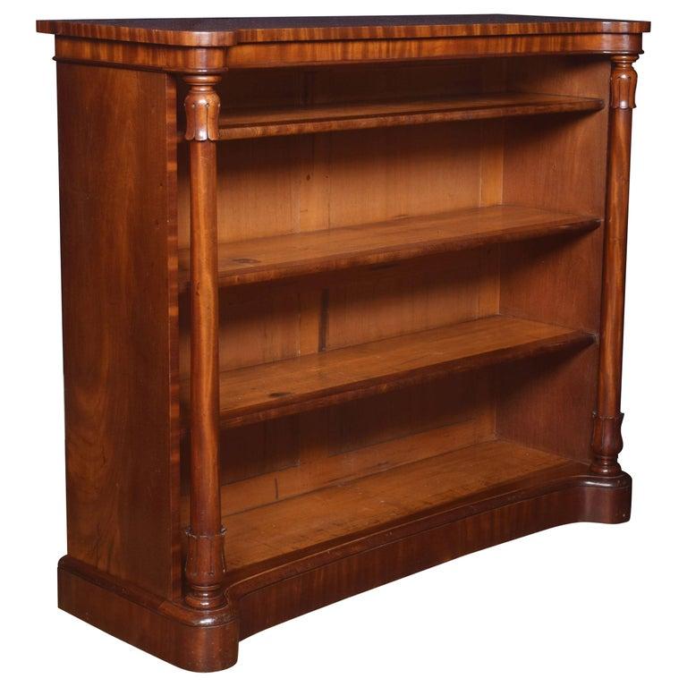 Mahogany Open Bookcase For Sale