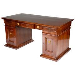 Mahogany Pedestal Desk with Gilt Bronze Mounts Designed by Thorvald Bindesbøll