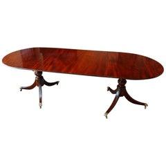 Mahogany Pedestal Dining Table
