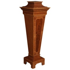 Mahogany Pedestal Torchiere Stand