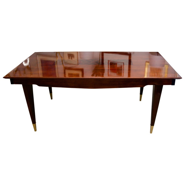 Dining Room Table For Sale: Mahogany Rectangular Extension Dining Room Table For Sale
