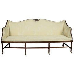 Mahogany Regency Style Three-Seat Settee