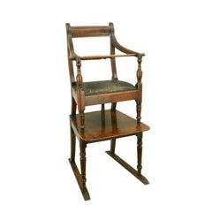 Mahogany Rope Back Child's High Chair Regency
