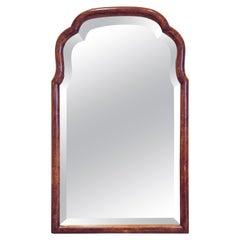 Mahogany Scalloped Bevelled Wall Mirror