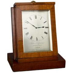 Mahogany Sedan Timepiece by Aubert & Klaftenberger, London