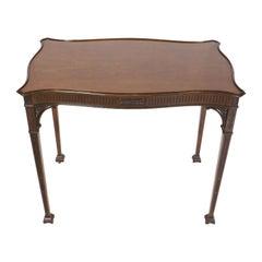 Mahogany Serpentine Silver Table