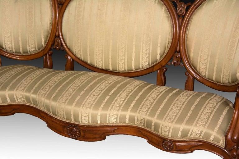Mahogany Set, Elisabeth II Style, Spain, 19th Century For Sale 4