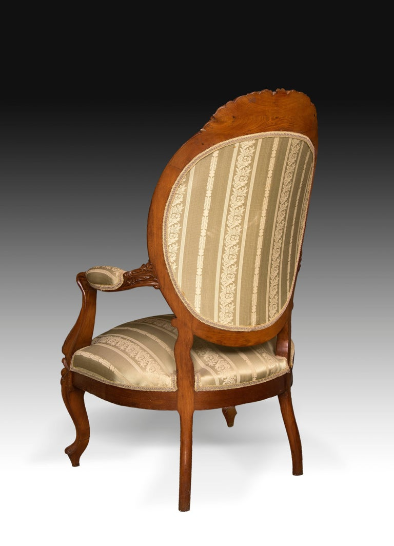 Neoclassical Mahogany Set, Elisabeth II Style, Spain, 19th Century For Sale