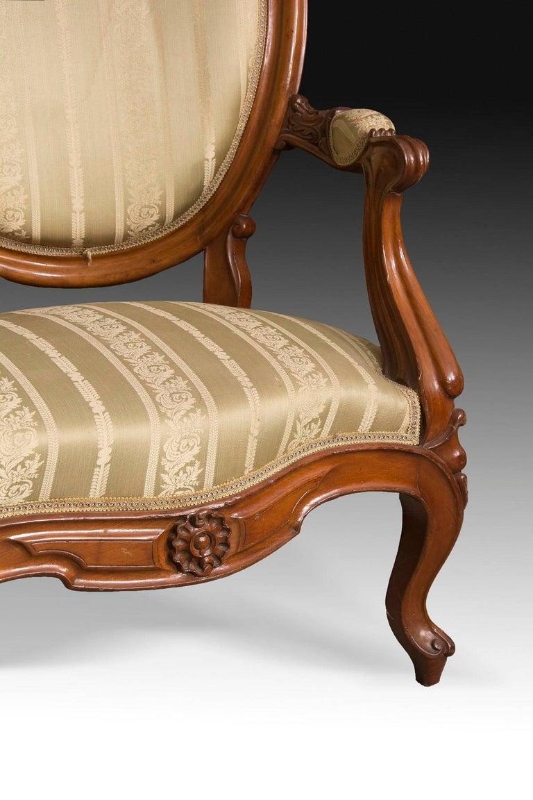 Mahogany Set, Elisabeth II Style, Spain, 19th Century For Sale 2