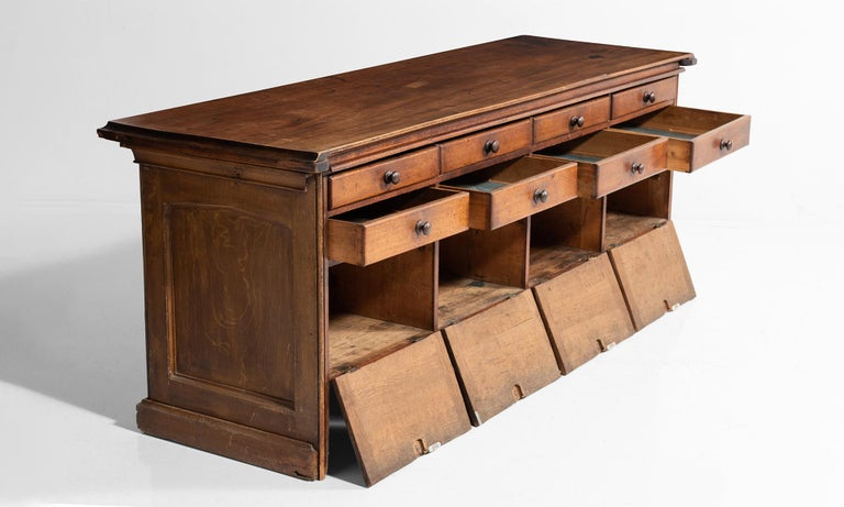 Mahogany Shop Counter In Good Condition For Sale In Culver City, CA