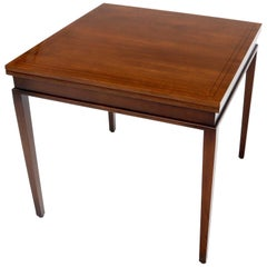 Mahogany Square Flip Top Game to Dining Table