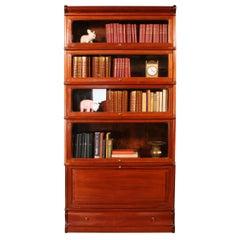Mahogany Stacking Bookcase 5 Elements circa 1900, Globe Wernicke