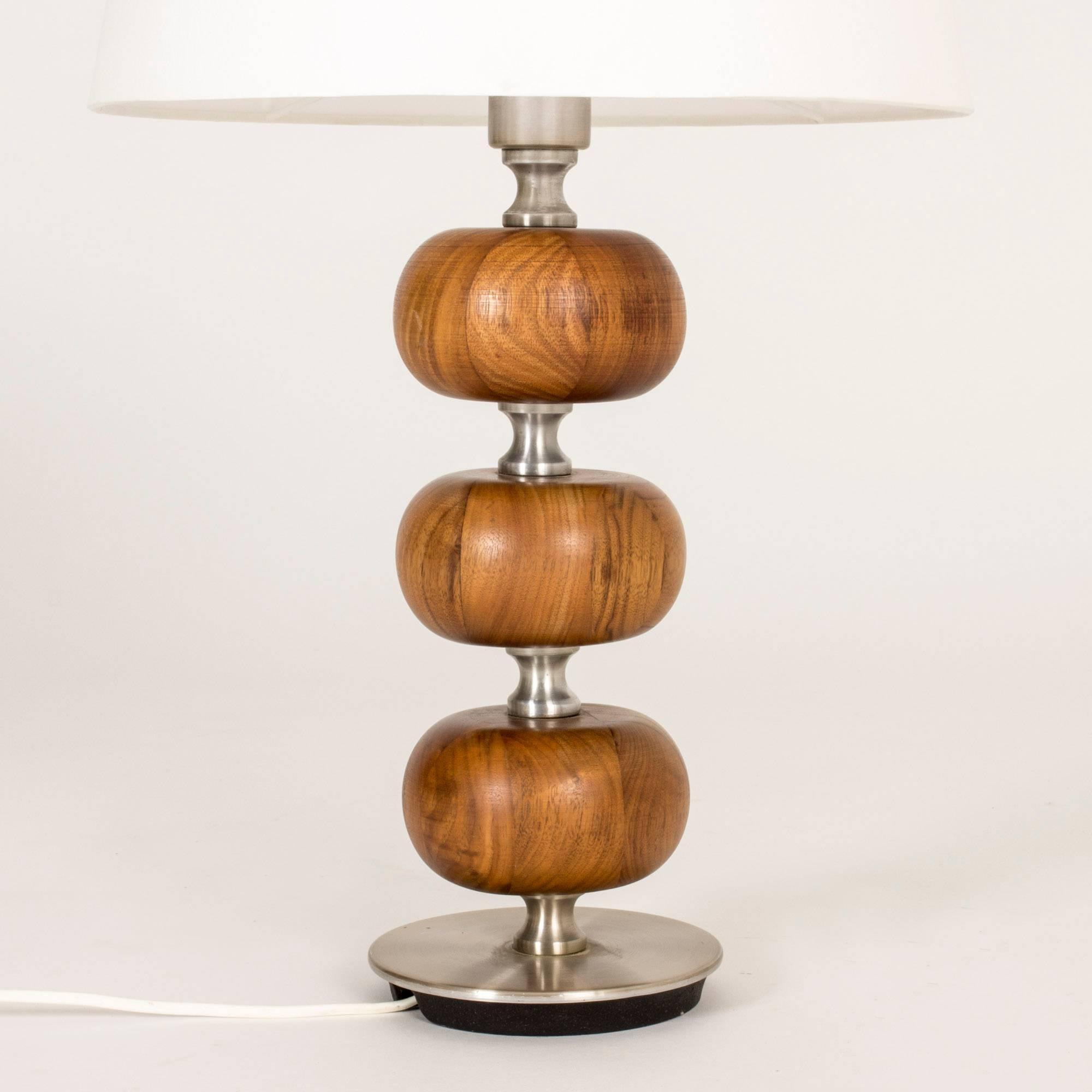 Scandinavian Modern Mahogany Table Lamp By Henrik Blomqvist For Sale