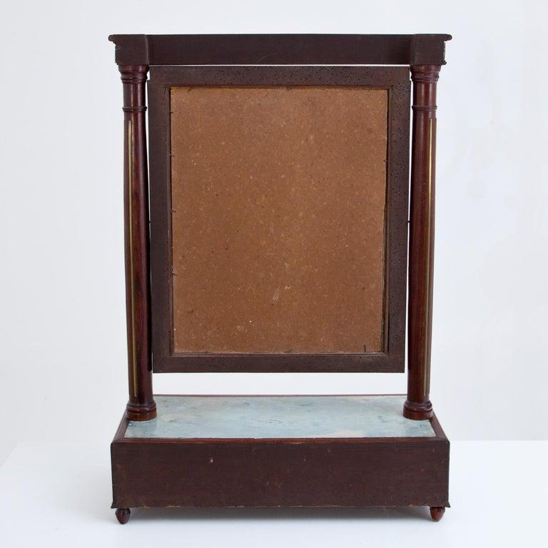 Mahogany Table Mirror with Verre Églomisé Inlays, St. Petersburg, circa 1800 For Sale 3