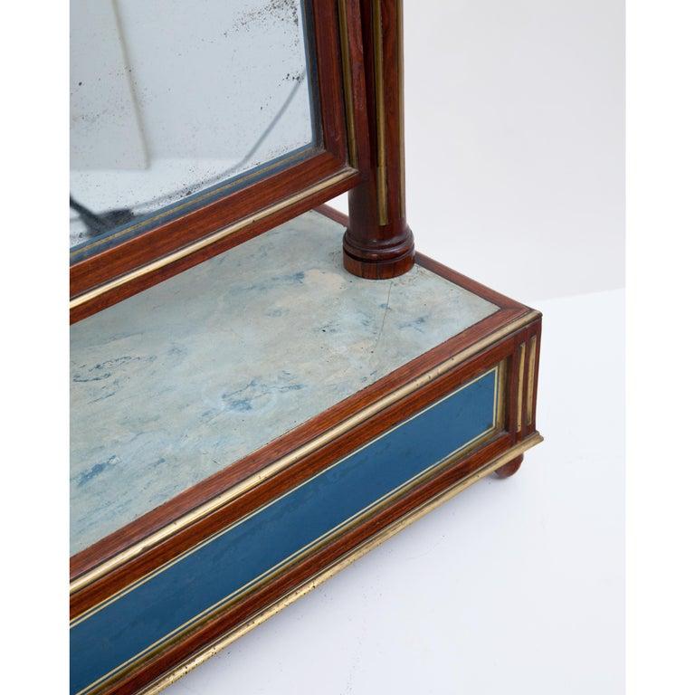 Mahogany Table Mirror with Verre Églomisé Inlays, St. Petersburg, circa 1800 For Sale 2