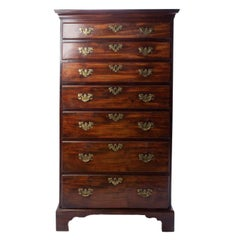 Mahogany Tall Chest, 19th Century