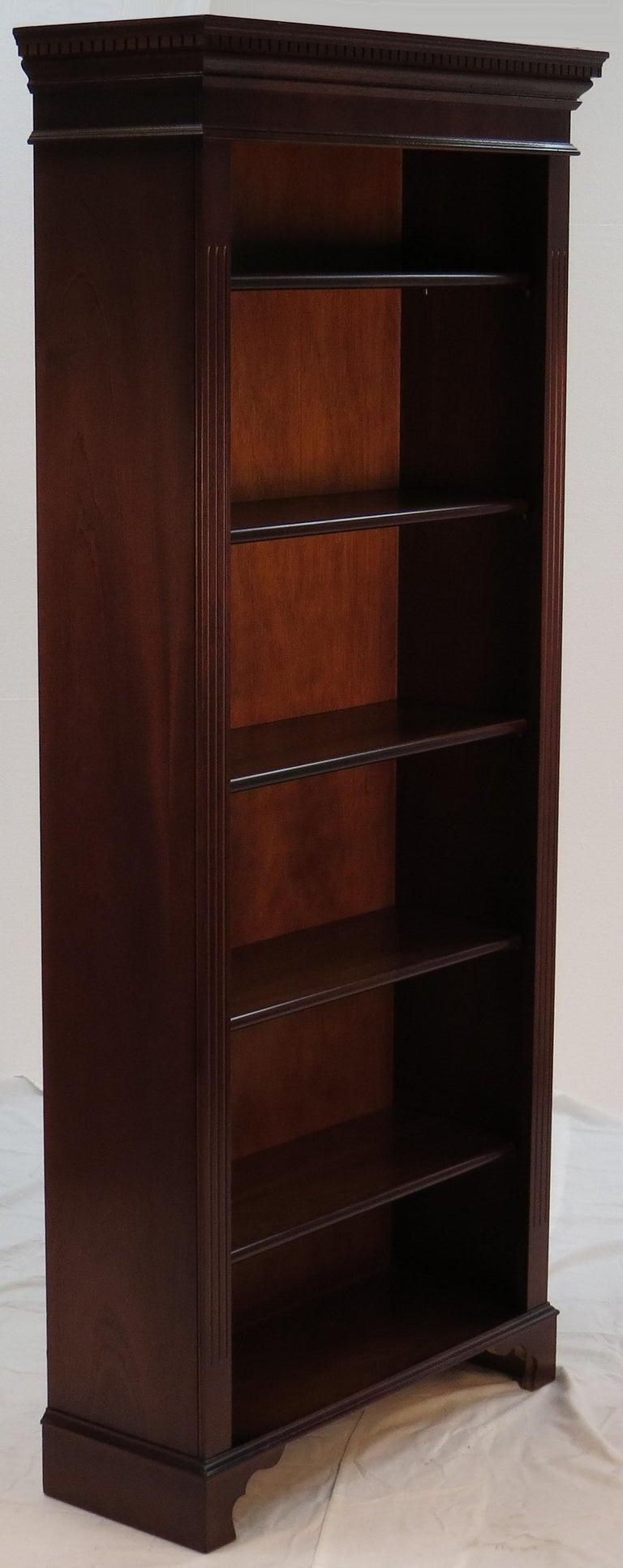 Mahogany Tall Narrow Open Bookcase at 1stdibs