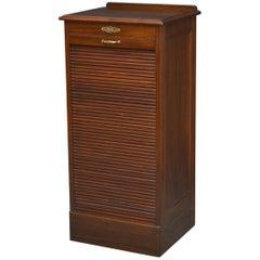 Mahogany Tambour Filing Cabinet