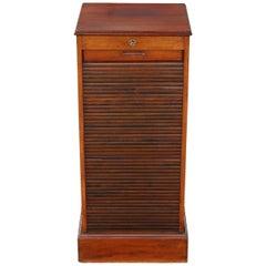 Mahogany Tambour Fronted Filing Cabinet