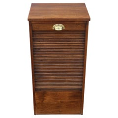 Mahogany Tambour Fronted Filing Cabinet