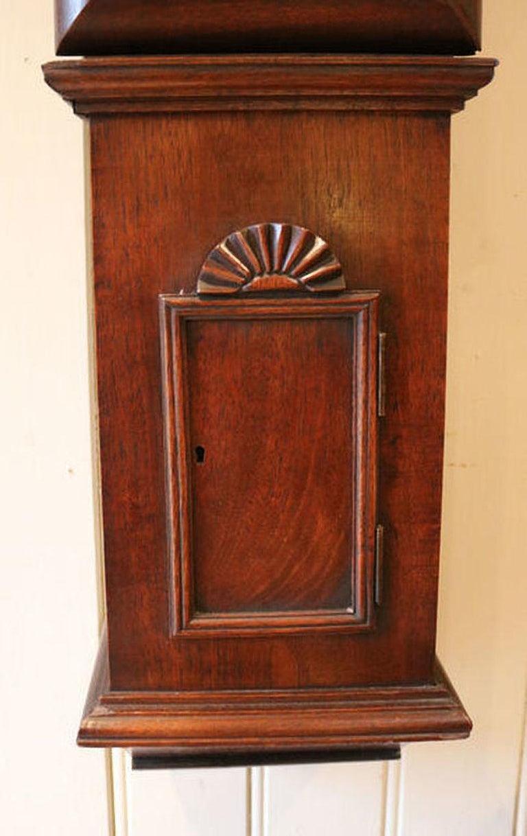 Georgian Mahogany Tavern Wall Clock For Sale