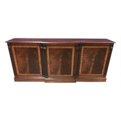 Mahogany Traditional Three-Door Buffet Credenza by Leighton Hall