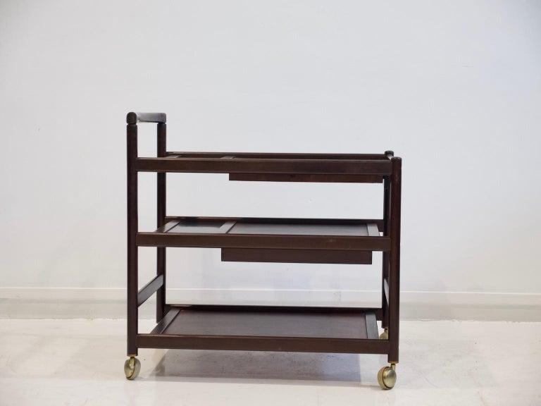 Mid-Century Modern Mahogany Tray Table Attributed to Johannes Andersen