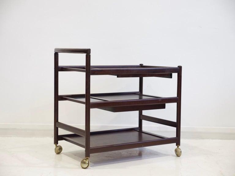 Danish Mahogany Tray Table Attributed to Johannes Andersen