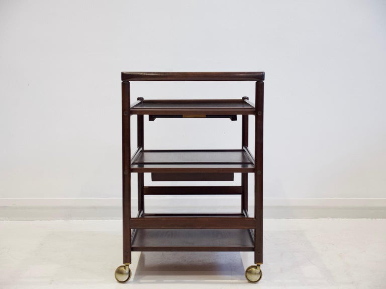 Mahogany Tray Table Attributed to Johannes Andersen In Good Condition In Madrid, ES