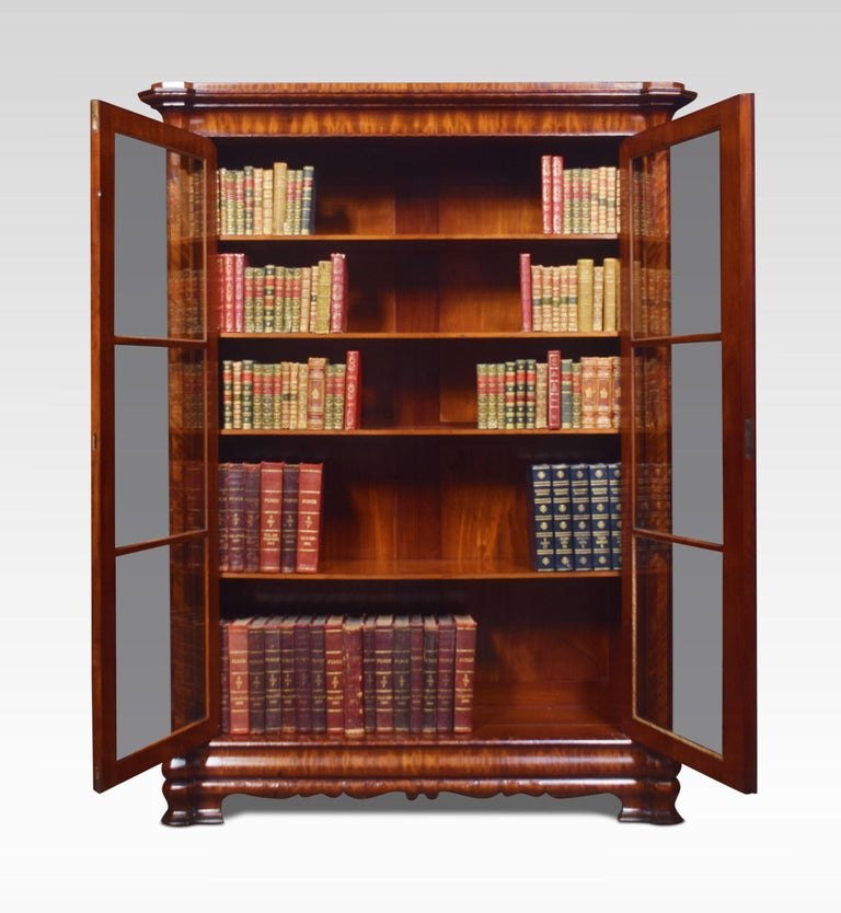 Mahogany Two-Door Bookcase In Good Condition For Sale In Cheshire, GB
