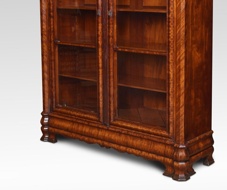 Mahogany Two-Door Bookcase For Sale 1