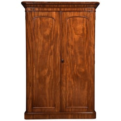 Mahogany Two-Door Compactum Wardrobe