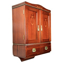 Mahogany Wall Cabinet with Two Drawers Art Nouveau, Austria, circa 1910