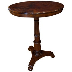 Mahogany Wine Table with Figured Top