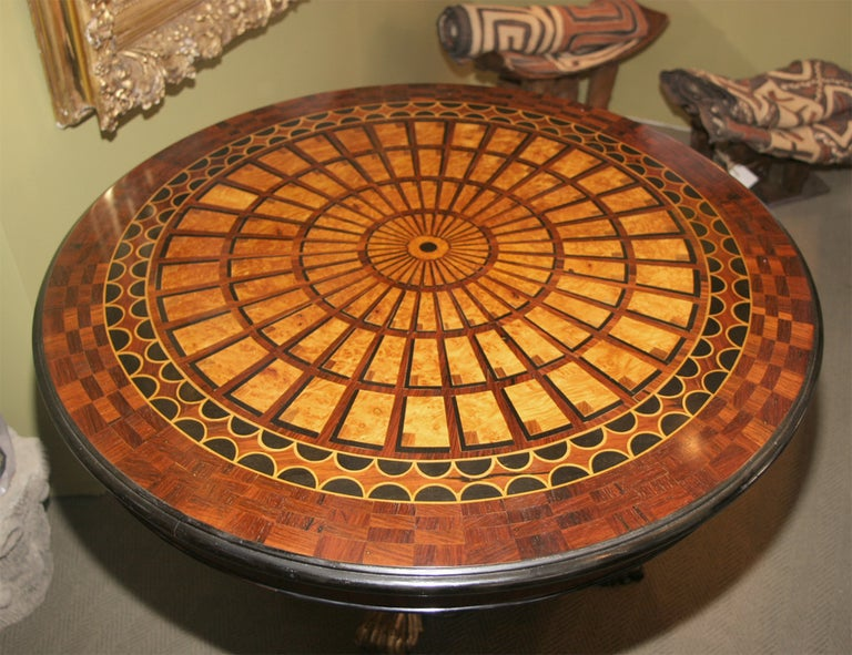 Mahogony Parquetry Center Tables For Sale 2