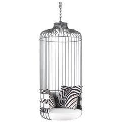 Mai Tai Outdoor Hanging Chair in Metal by Roberto Cavalli Home Interiors