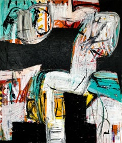 """Large Abstract Acrylic Painting """"Contemplation 2"""""""