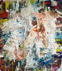 """Large Abstract Acrylic on Canvas Painting """"Encrypted Emotions 1"""""""