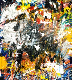 """Large Abstract Acrylic on Canvas Painting """"Encrypted Emotions 2"""""""